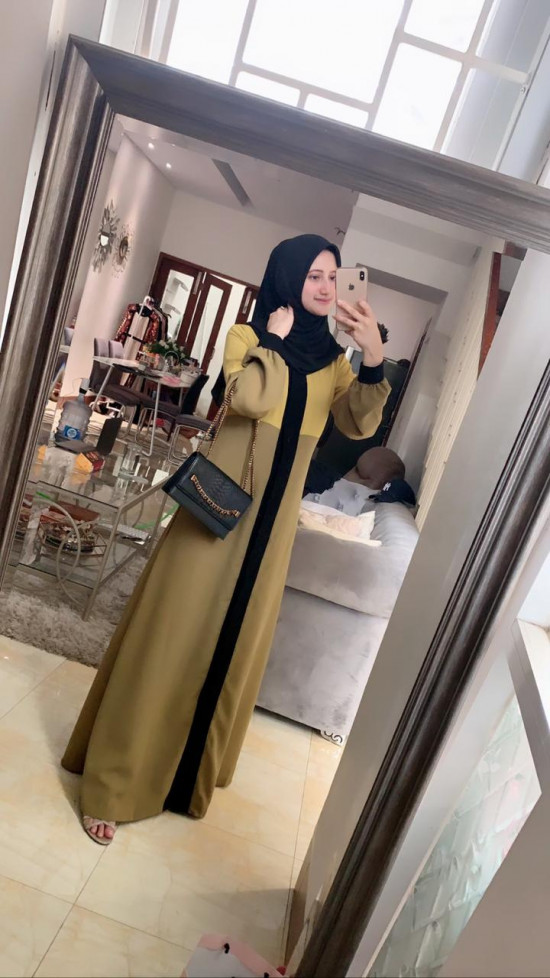 NAURA DRESS OLIVE XL